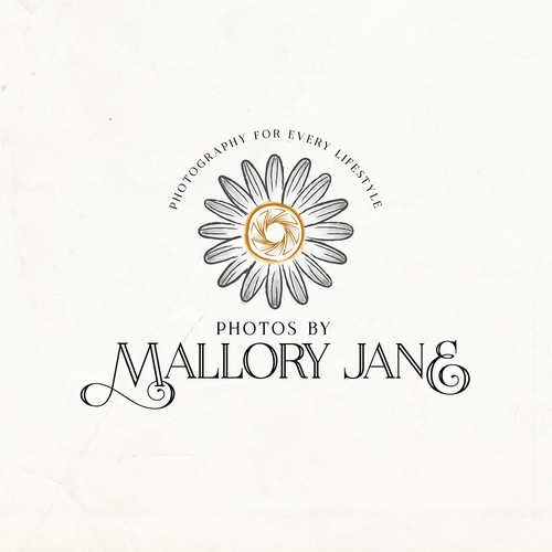 Watercolor Style Logo for Photos by Mallory Jane