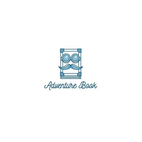 Hipster logo concept for a book lending portal.