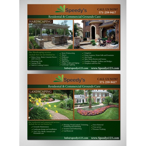 Create the next postcard or flyer for Speedy's