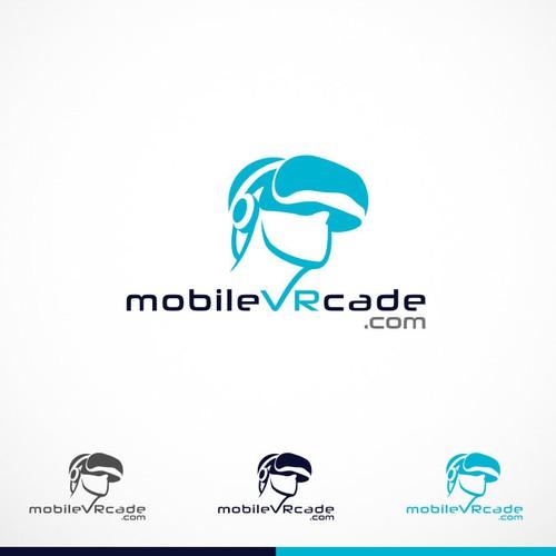 Futuristic Logo for mobileVRcade.com