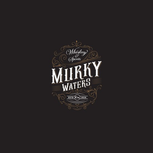 Vintage logo concept for Whiskey Distiller