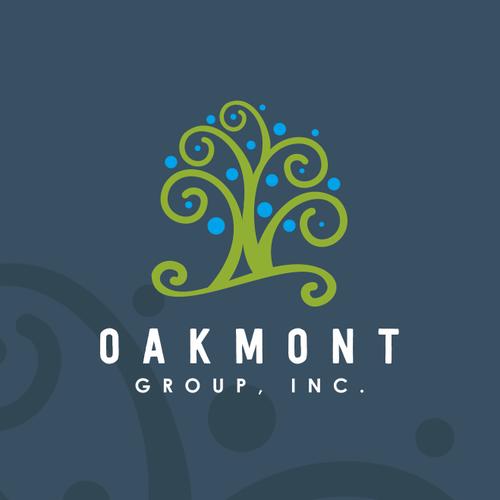 unique logo for oakmont group Inc