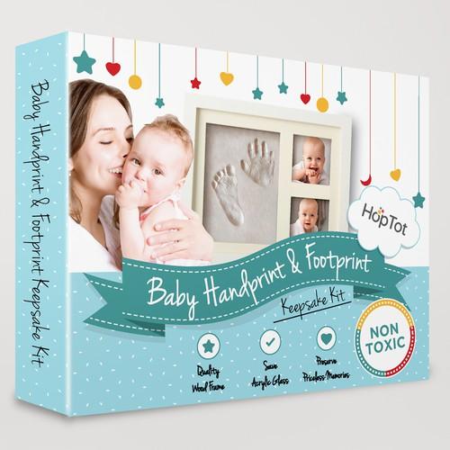 baby handprint and footprint