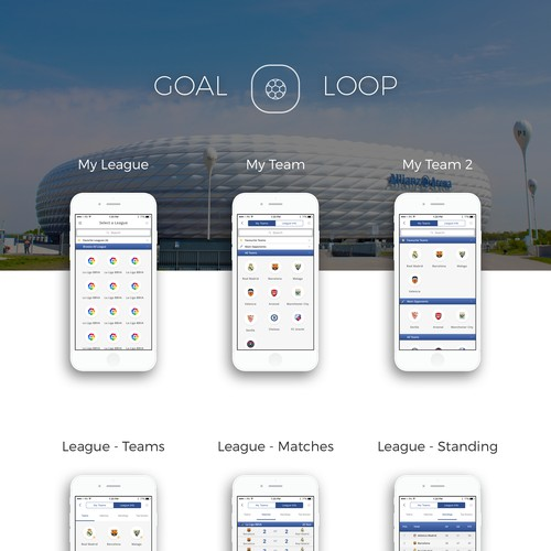UI Design for Football Lovers App