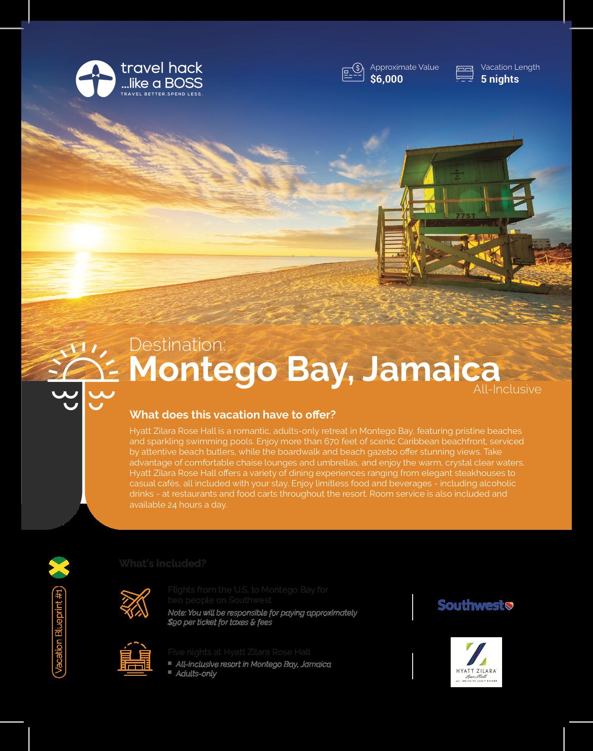 Travel Company - Vacation Blueprint Flyers