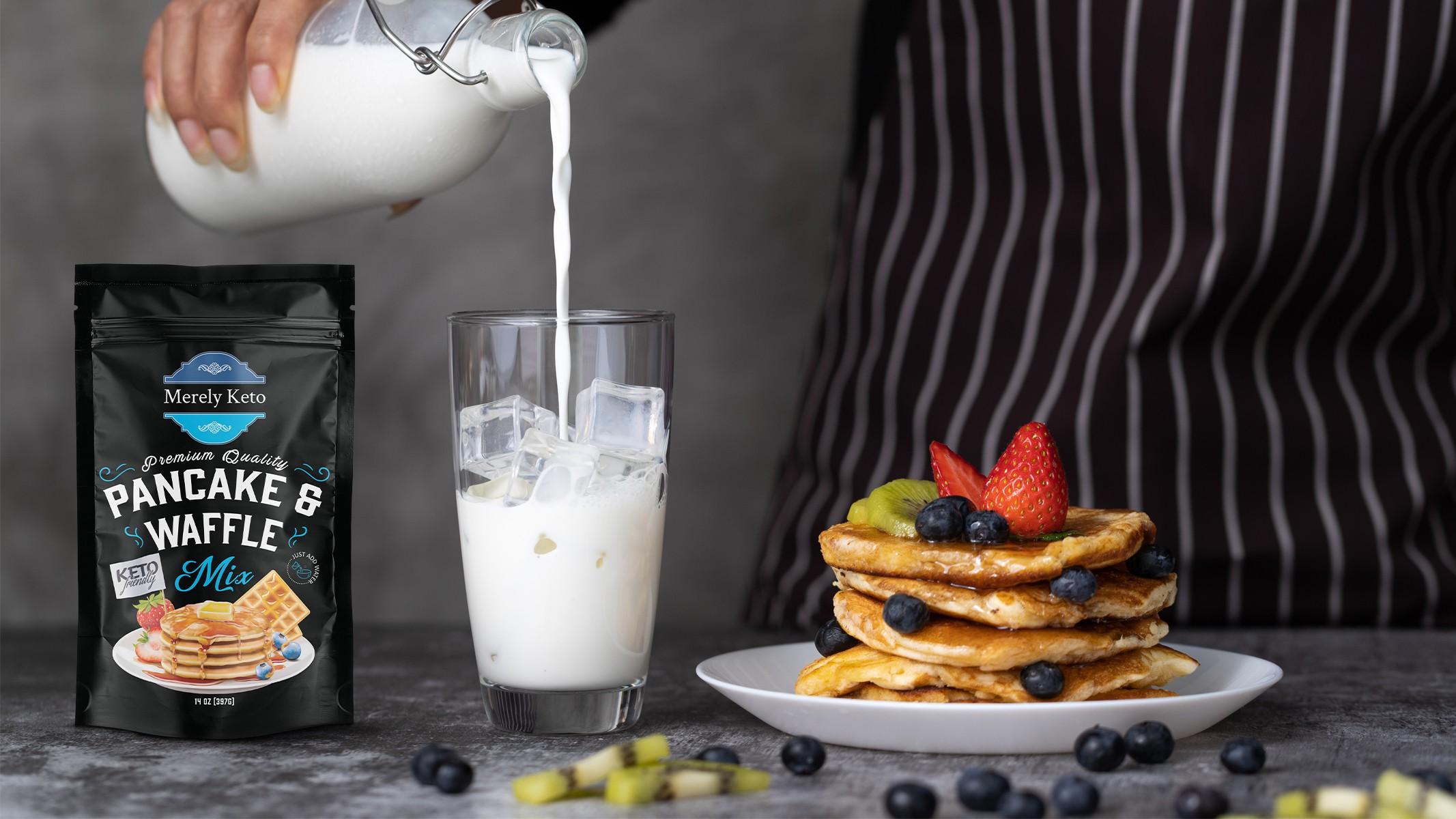 Merely Keto Pancake and Waffle Mix Kickstarter Artwork