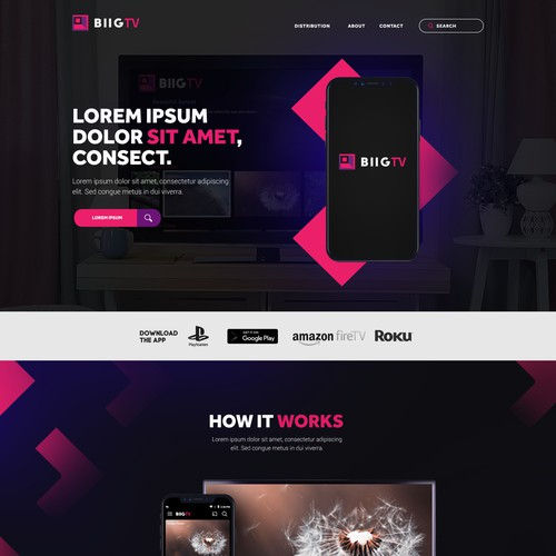BIIG.TV Website Design