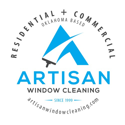 T-shirt with contact information for window cleaning company