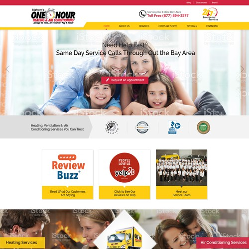 Modern website for Heating and Air Conditioning Company