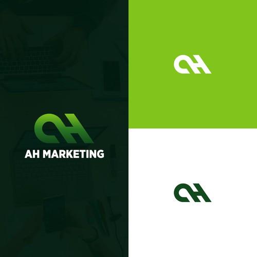 ah marketing logo design