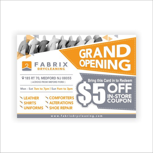 Post Card for Fabrix Drycleaning