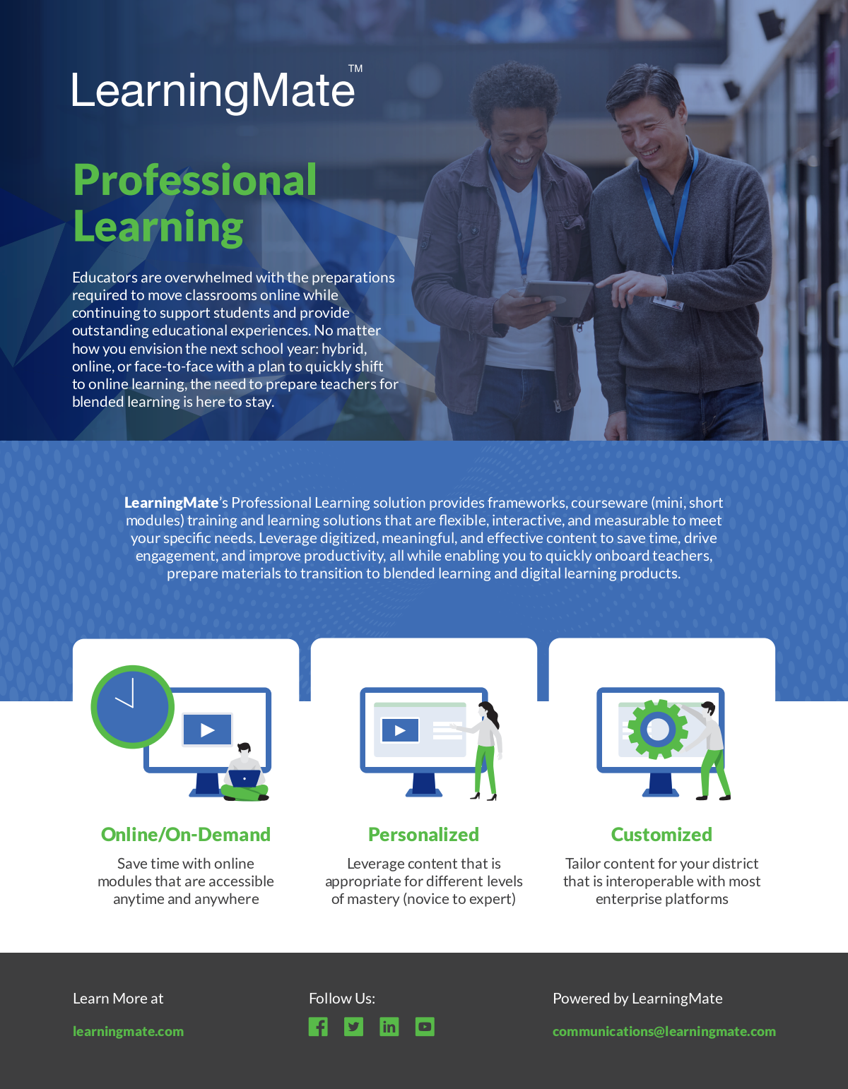 Sales Flyer for Professional Learning Services (Tech)