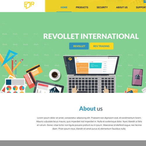 Web Design for Rev Trading