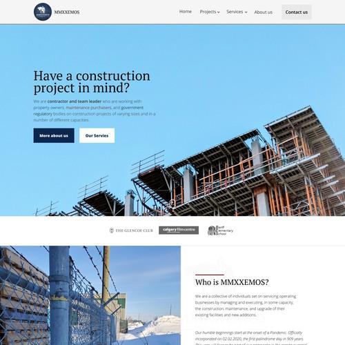 A construction Comapny website