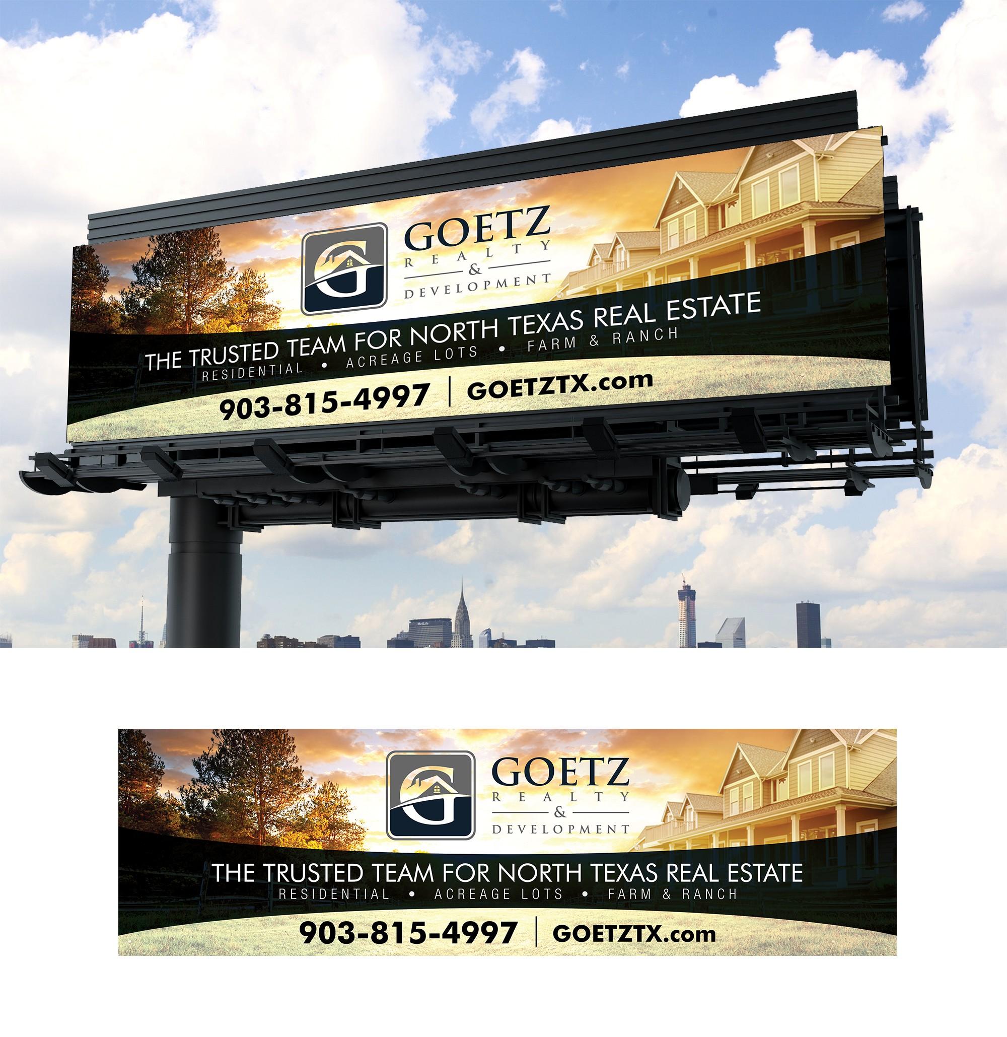 Classy & Bold Billboard Design for Goetz Realty & Development