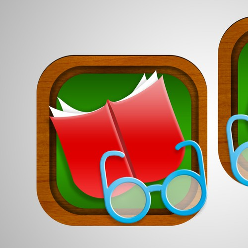Create a compelling iOS app icon that will help children learn to read words