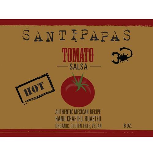 Santipapas salsa label