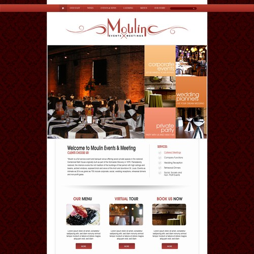 Help an event space in an historic building with a new website design