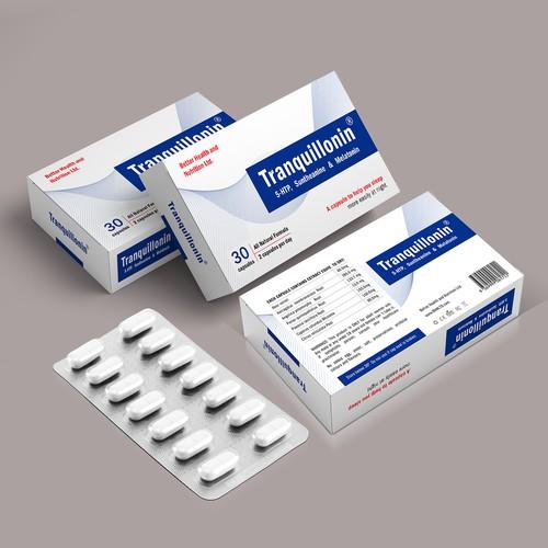 Tranquillonin Pills box design