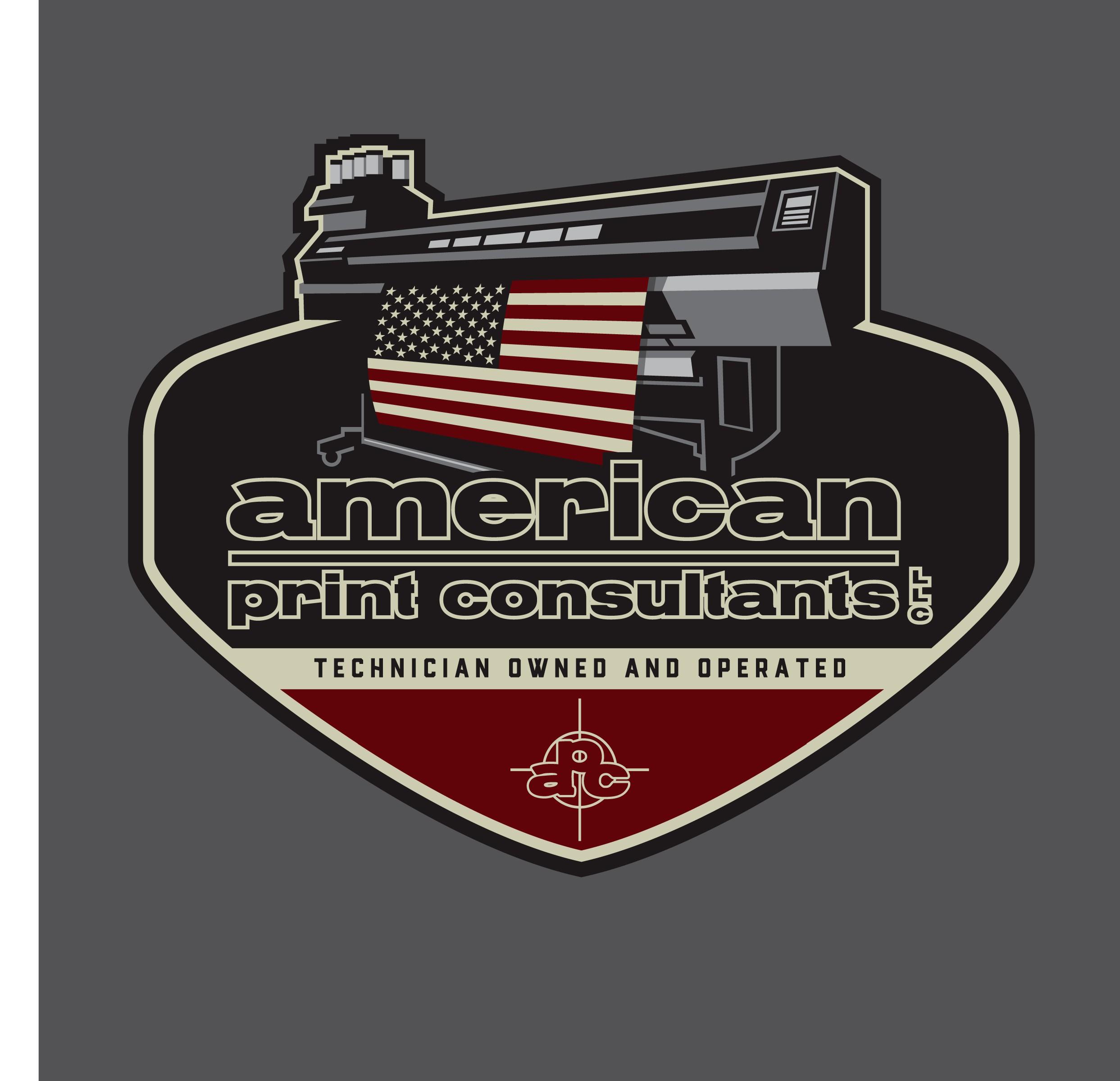 Vintage/Retro Garage Style Logo for our Printer Technicians