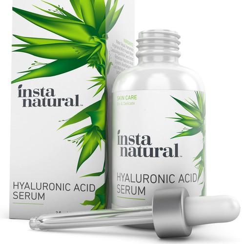 Hyaluronic Acid Serum 3D Rendering