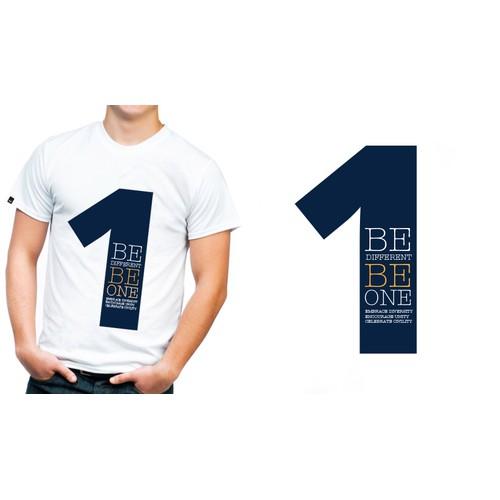 "University seeking creative civility logo ""B different B 1"""