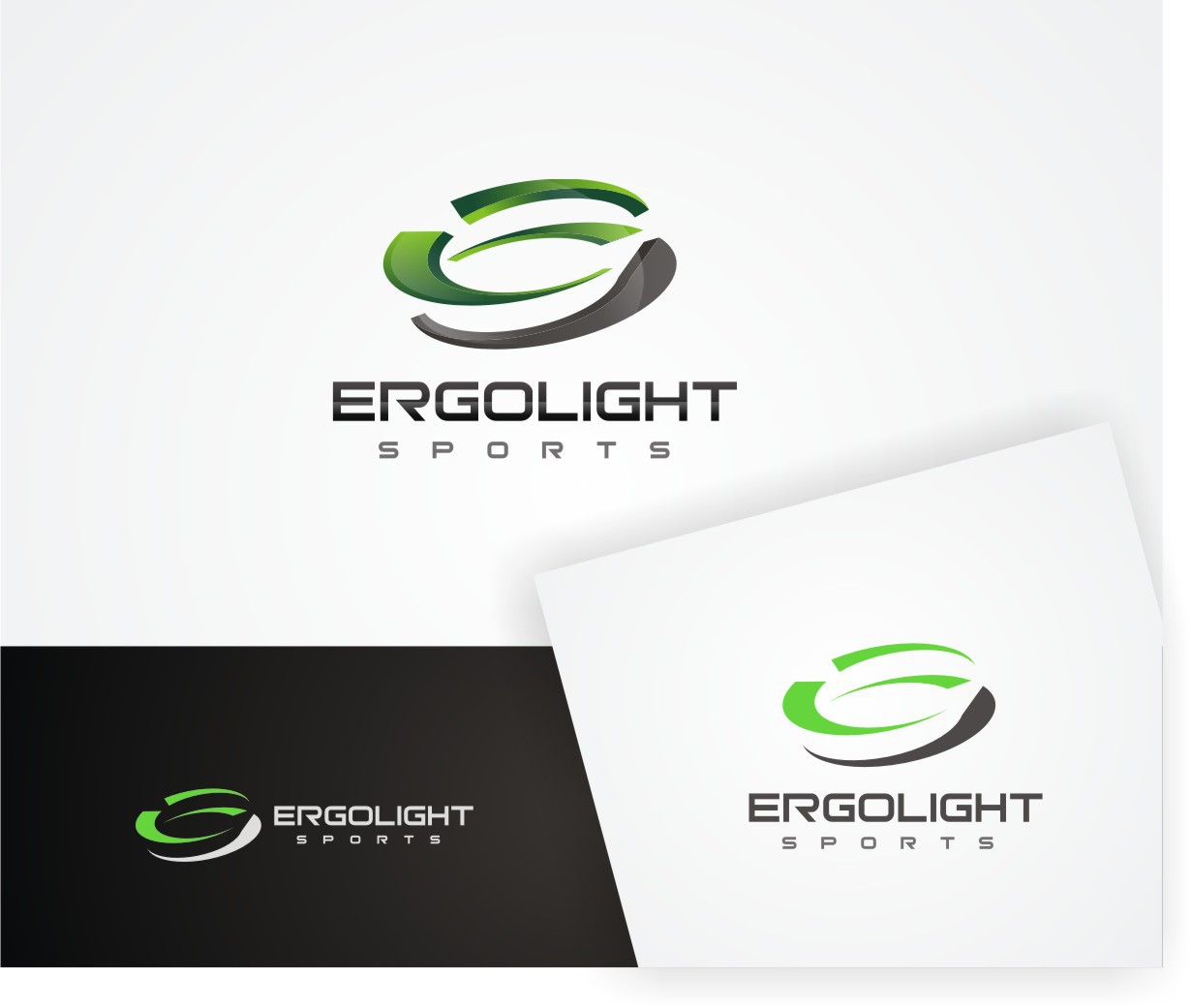 Modern and dynamic logo for a sports brand