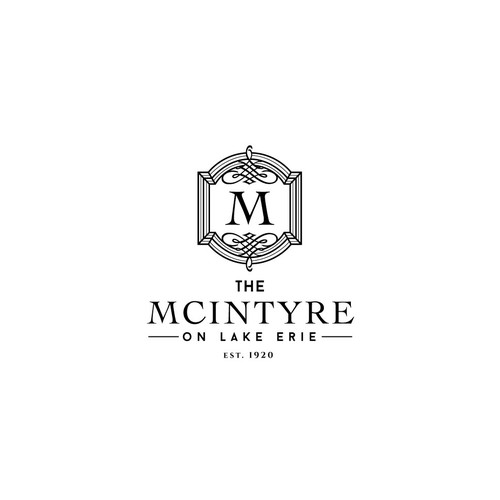 Luxury logo concept for a 1920s mansion.