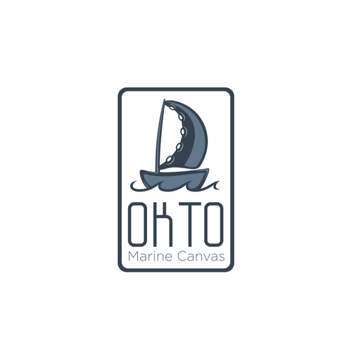 Create a brand identifying logo for OKTO Canvas