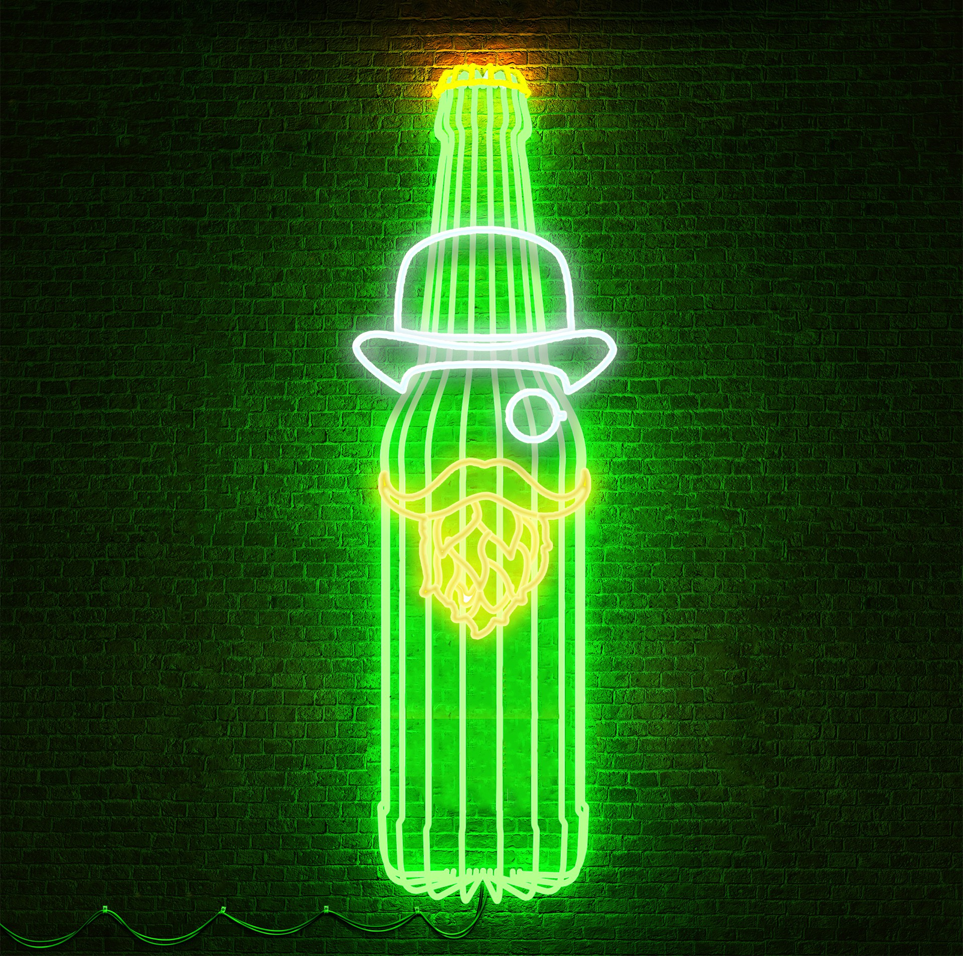 Design a brand identity lighting sign for a bar company, 3D would be nice to see it.