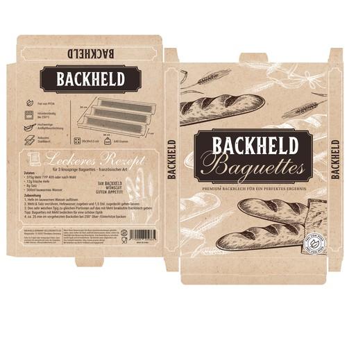 Backheld packaging design