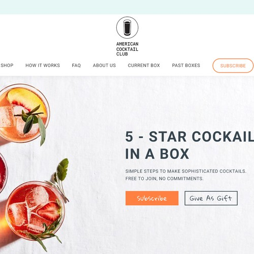 Design for a Cocktail Subscription Company