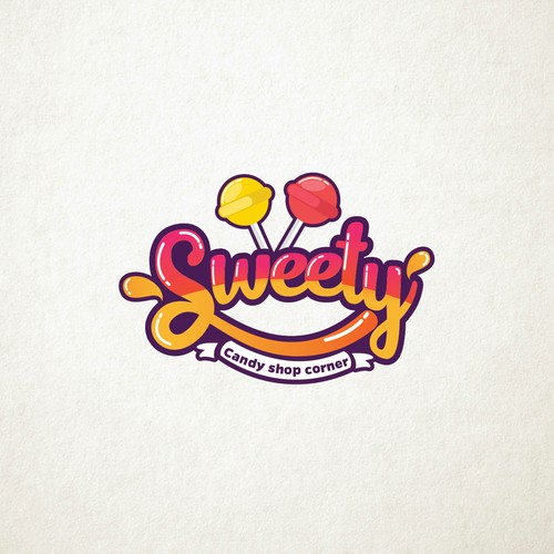 Sweet logo concept for sweety candy shop.