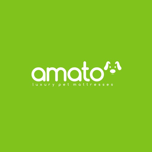 AMATO modern/luxury dog bed logo