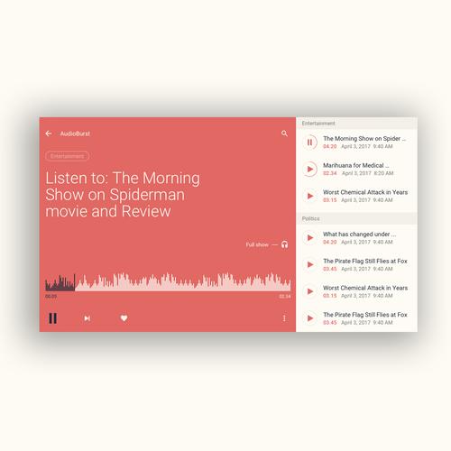 Audioburst Desktop Audio Player