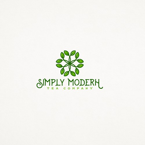 Logo concept for Simply Modern Tea Company