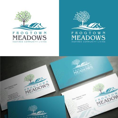 Bold logo concept for Frogtown Meadows.