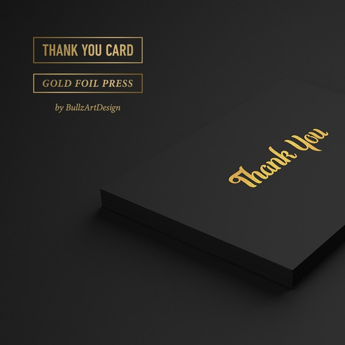 """Thank You"" -  Greeting Card Design"