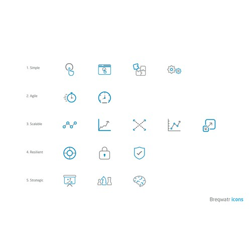 create flat, duotone icons for a new game changing product