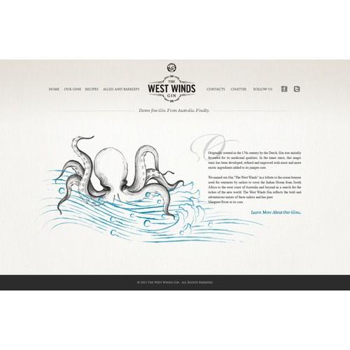 The West Winds Gin needs a new website design