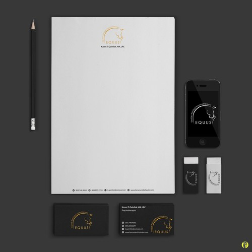 Stationery design and logo customization for EQUUS