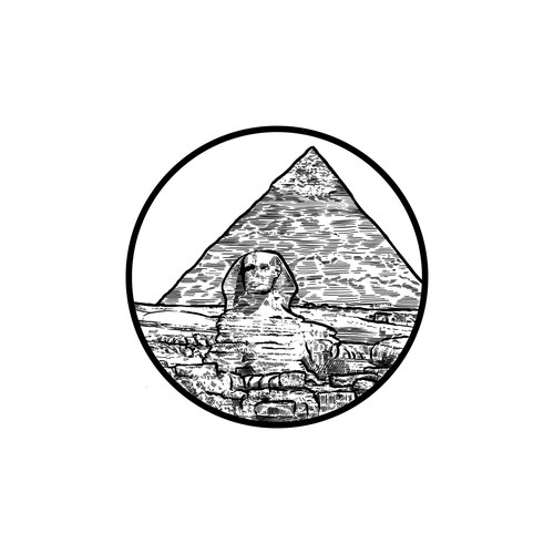 Pyramid of Giza design for a silver coin