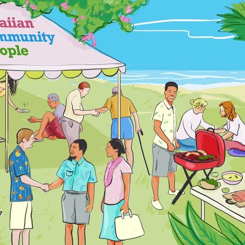 Illustration for Hawaiian Community Festival