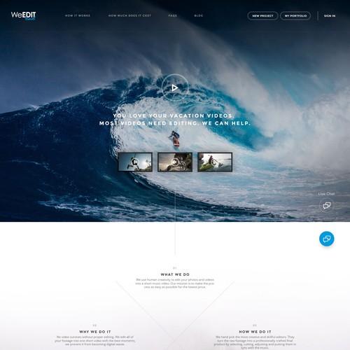 Web Design Concept For WeEdit