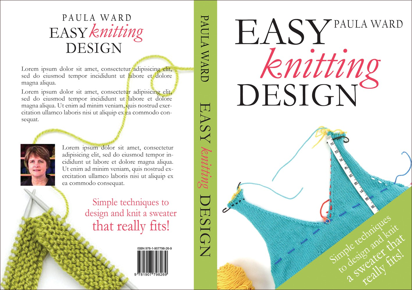 Create the next book or magazine cover for Easy Knitting Design