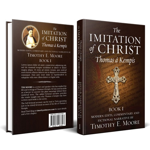 "Book Cover for a Tim Moore's work on ""The Imitation of Christ"""