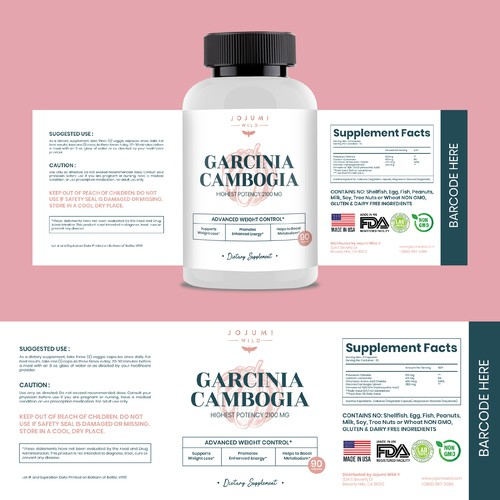 Label Design For Supplement product