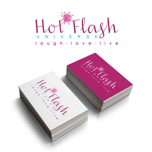 Creative strong, sexy, feminine logo for Hot Flash Universe!