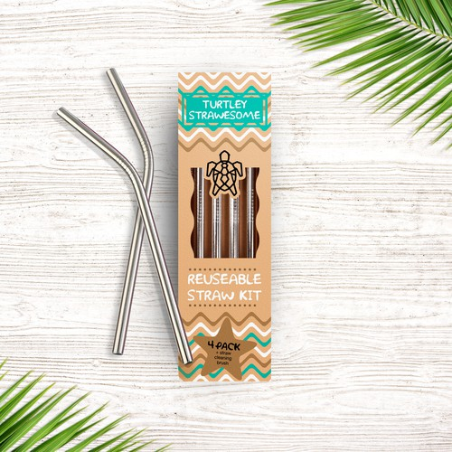 Package design for Reusable Eco-straws