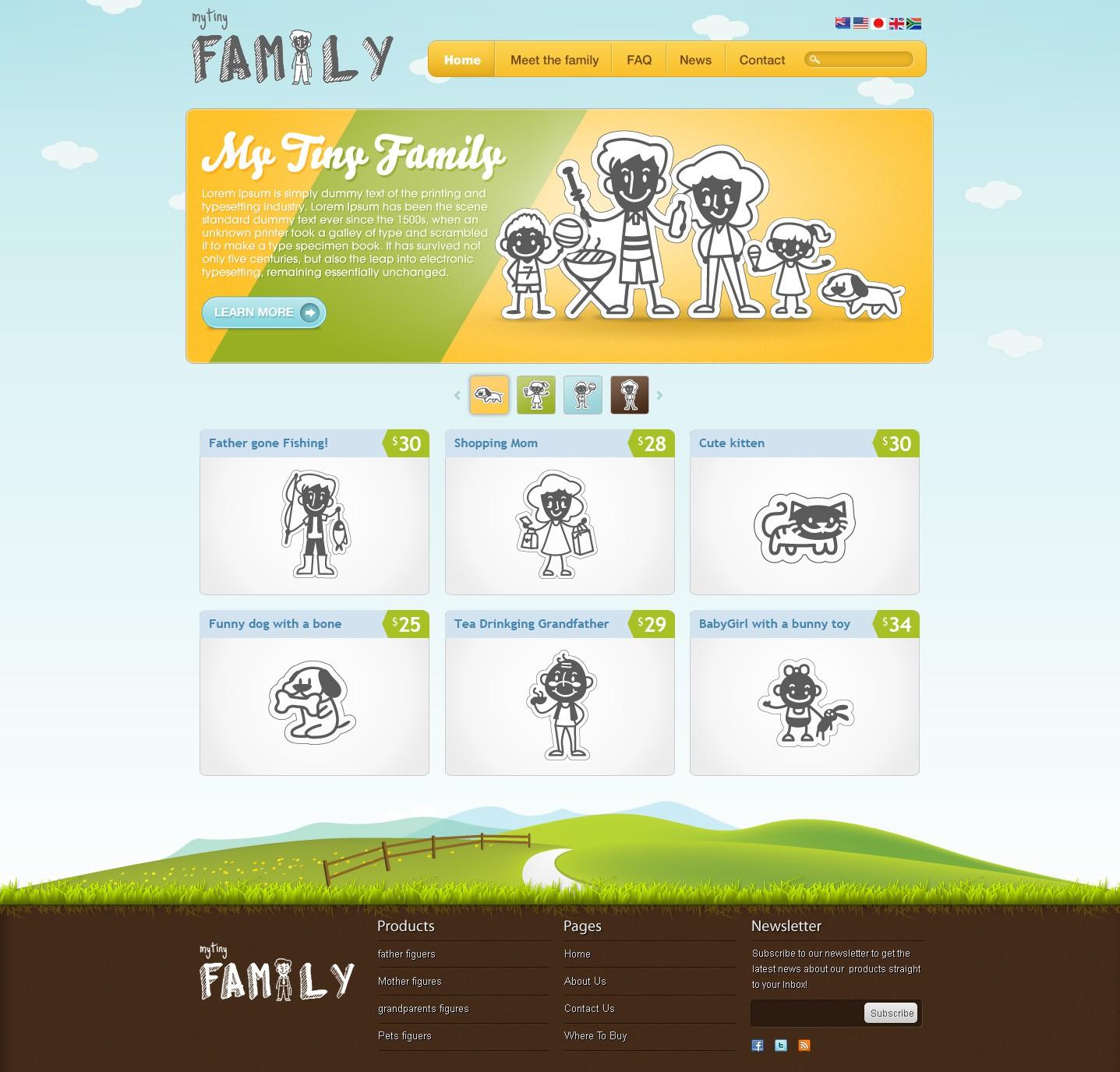 website design for MyTinyFamily